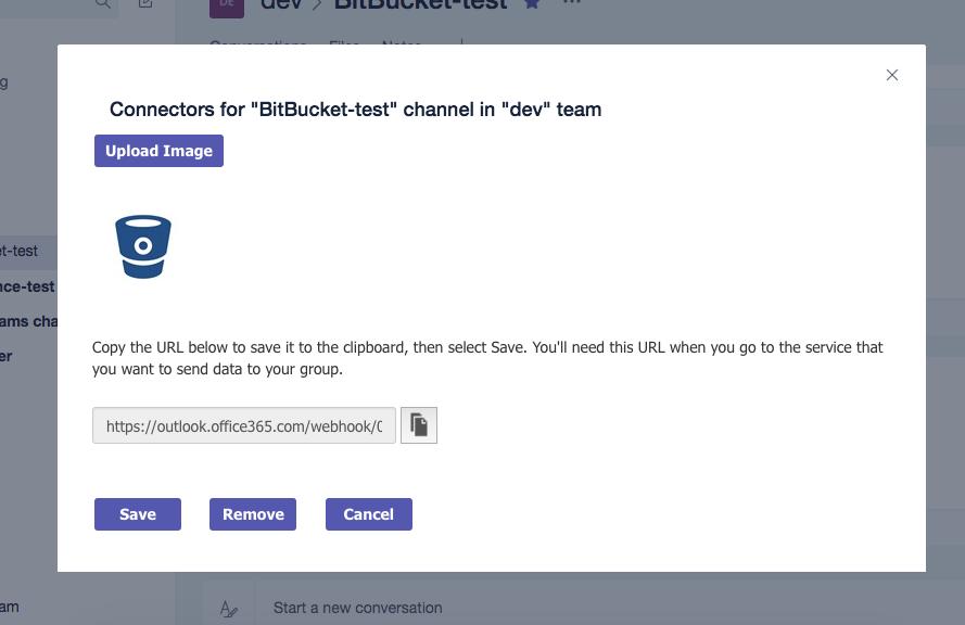 Microsoft Teams Bitbucket Connector (Server and Data Center