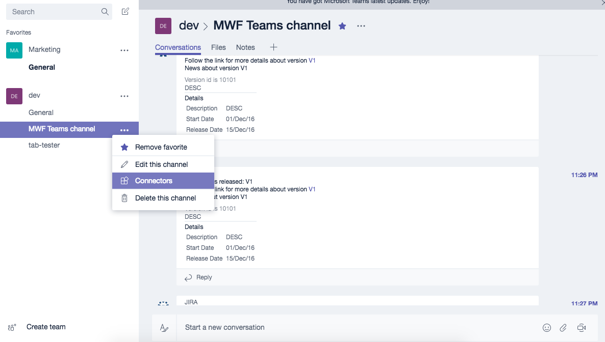 microsoft teams confluence connector add connector